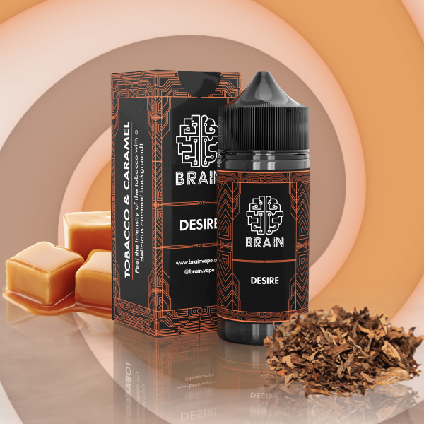 Brain Desire Salt   Tabaco Caramelado 15ml/30ml