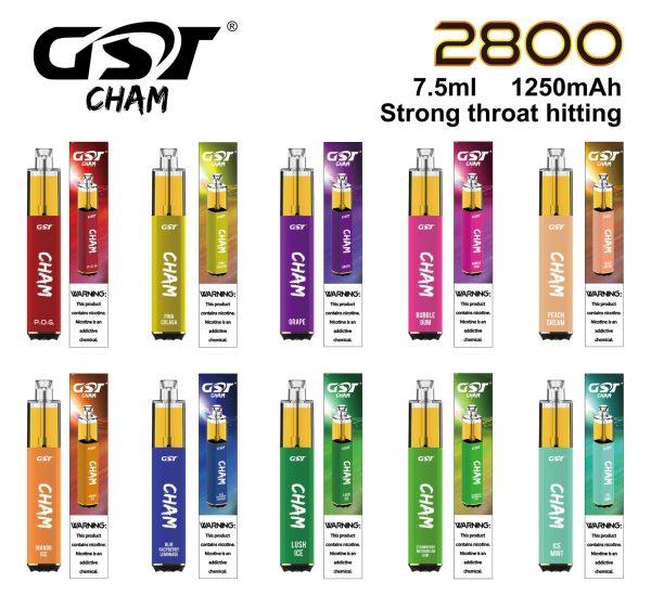 GST   Cham Pod Descartável 2800 Puffs