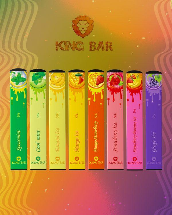 King Bar   Pod Descartável 400 Puffs (9 Sabores)