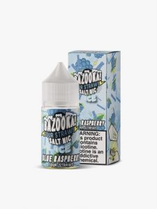 Bazooka! Sour Straws - Blue Raspberry Ice Salt 30ml