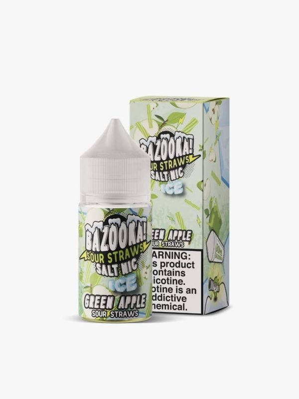 Bazooka! Sour Straws | Green Apple Ice Salt 30ml