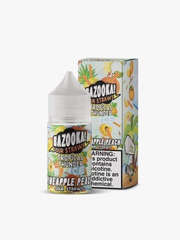 Bazooka! Sour Straws   Pineapple Peach Ice Salt 30ml