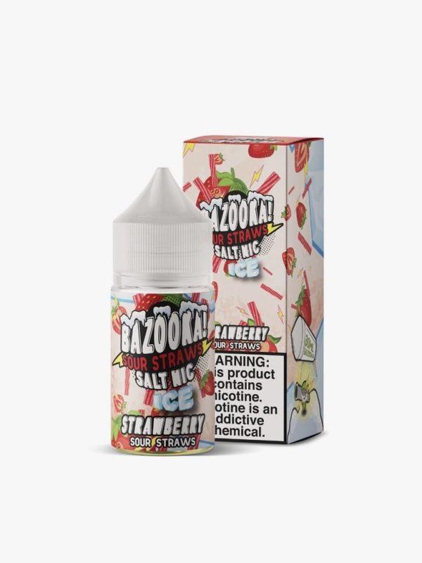 Bazooka! Sour Straws | Strawberry Ice Salt 30ml