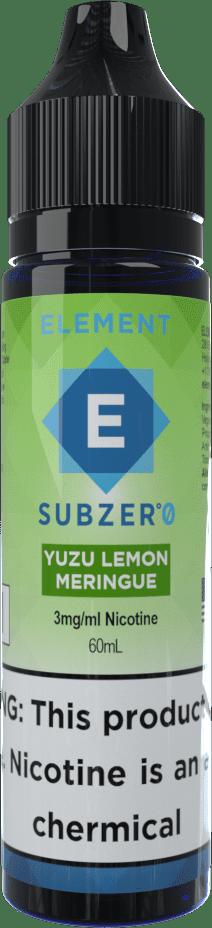 Element | Subzero | Yuzu Lemon Merengue Ice 60ml